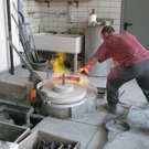 Studio for painting bronze casting