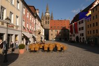 Market square in Ansbach