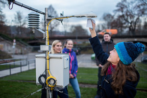 Meteorological station - geography course - Catholic University of Eichstätt-Ingolstadt