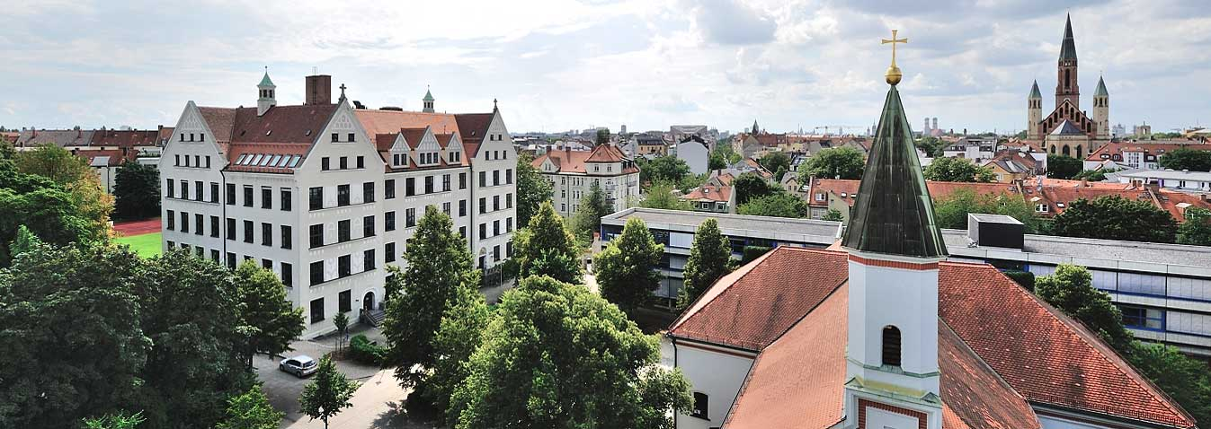 KSH Munich: The campus from above